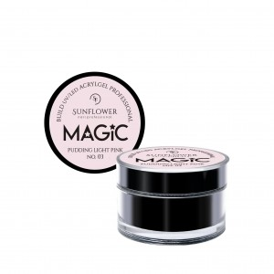 "AkryloŻel UV/LED Żel Budujący ""MAGIC"" - Pudding Light Pink 15g"