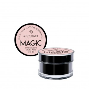 "AkryloŻel UV/LED Żel Budujący ""MAGIC""- Trans. Warm Pink  15g"