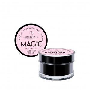 "AkryloŻel UV/LED Żel Budujący ""MAGIC"" - Trans. Cold Pink  15g"