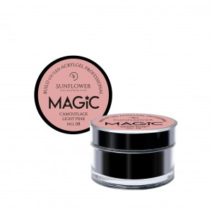 "AkryloŻel UV/LED Żel Budujący ""MAGIC""- Camouflage Light Pink 15g"