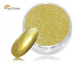 Mirror Effect Gold Light - Jasne Złoto Efekt Lustra - 1,25ml