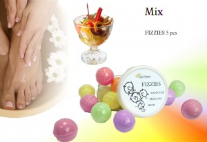 Fizzies Mix - Mieszanka (10g) - kulki Do kapieli Manicure, Pedicure