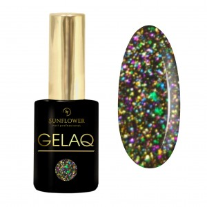 GELAQ Top Flakes Multicolor No. 107 Zieleń - Róż Galaxy