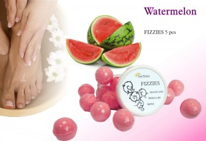 Fizzies Arbuz - Melon (10g) - kulki Do kapieli Manicure, Pedicure
