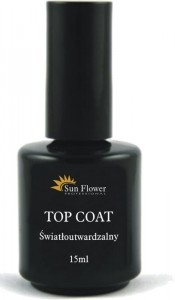 TOP COAT UV 15ml  - Top Coat utwardzalny w świetle UV