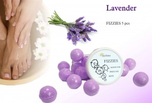 Fizzies Lawenda (10g) -  kulki Do kapieli Manicure, Pedicure